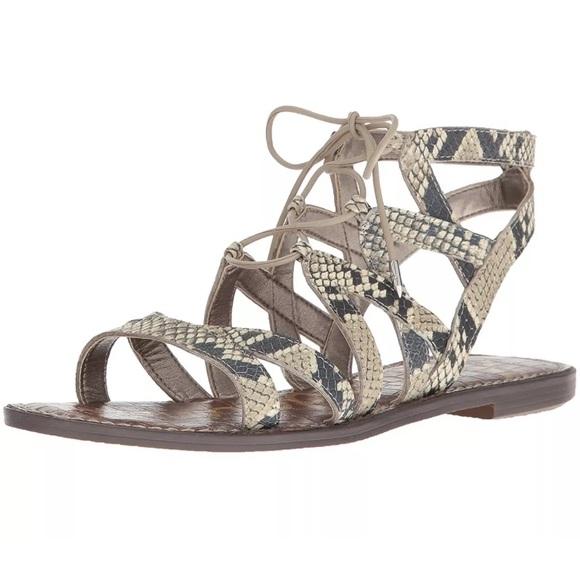 eb8f3edc114aa Sam Edelman gladiator lace up Gemma sandals 10